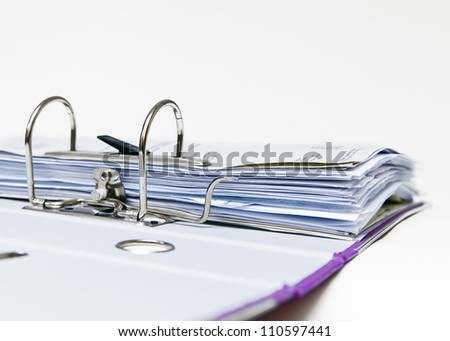 Open folder with the Affairs of the firm