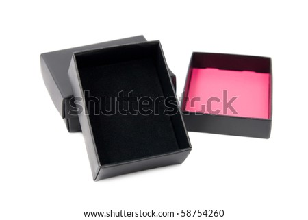 Open gift box. Isolated on white background.