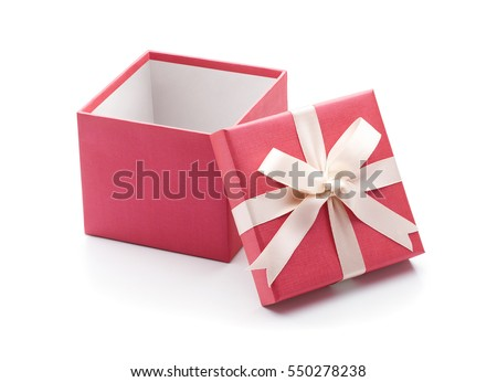 Open gift box isolated on white background - Clipping path included #550278238