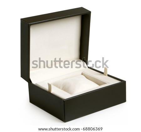 Open gift box on a white background
