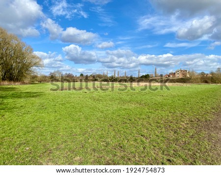 Open grass parkland in the spring sunshine Stock photo ©