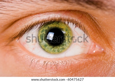 Woman With Green Eye Shadows Stock Photo - Image: 57446889