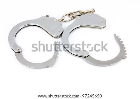 Open handcuffs - stock photo