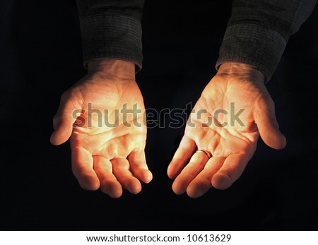 Open Hands, Illuminated Stock Photo 10613629 : Shutterstock
