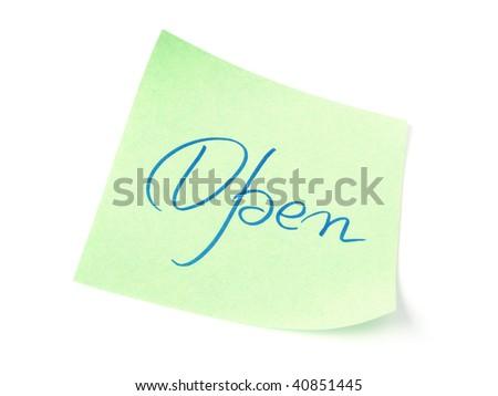 Open handwritten message on green to do list