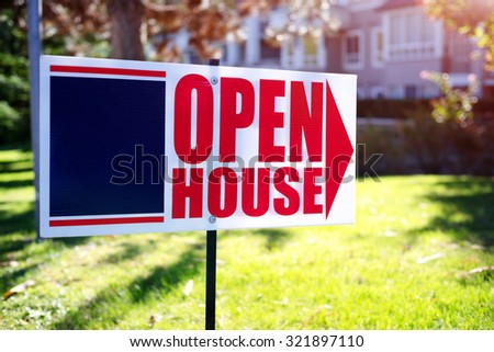 open house sign #321897110