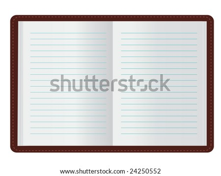 Open Journal (JPG and Vector versions of this file both available in my portfolio)