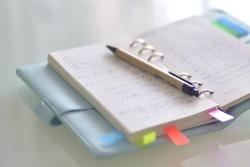 open journal of closeup