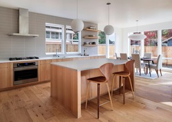 Open kitchen concept in a nice modern home. Portland, Oregon