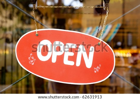 Open Label sign