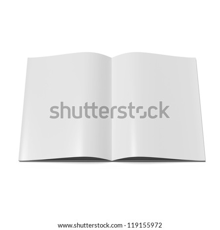 Open magazine  with blank pages.