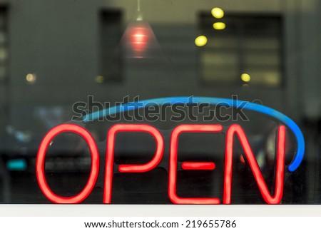 Open Neon Sign #219655786
