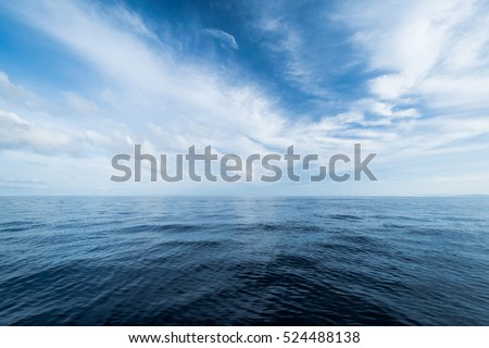 Open ocean and cloudy sky. Summer tropical travel #524488138