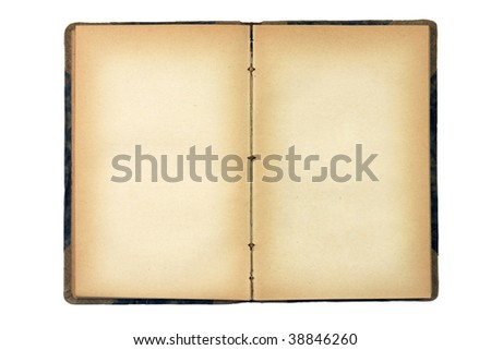 Old blank books, pages