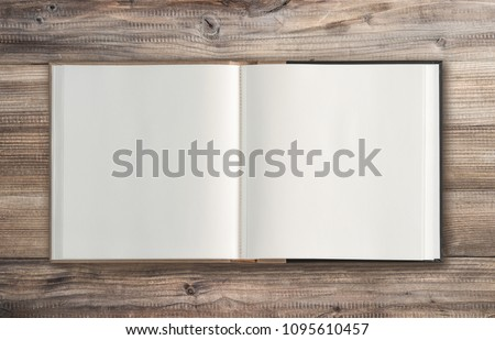 Open old book
