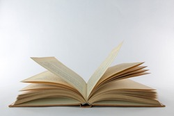 open old book on a white background