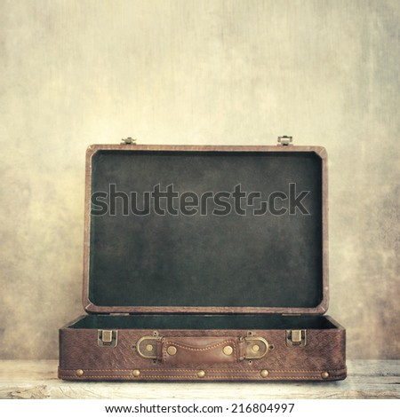 Open old suitcase Stock photo ©