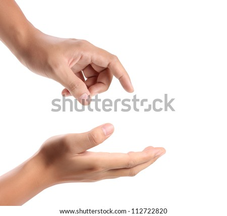 Open palm a hand gesture