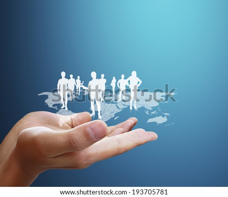 Open palm hand social network structure  #193705781
