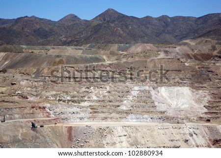 Open Pit Copper Mine near Hayden, Arizona