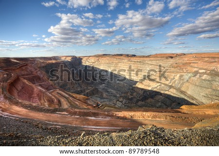 Open Pit Gold Mine in Kalgorlie, Western Australia - stock photo