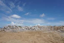 open pit limestone mine