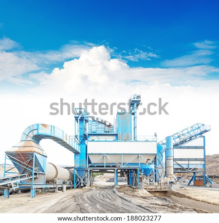 Open pit mining and processing plant for crushed stone sand and gravel to be used in the roads and construction industry