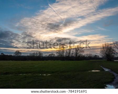 open plain grassland field...