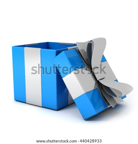Open present box 3D render