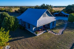 Open Ranch Farm lands large acre lot with Cozy quaint historic Home built in the 1900's in Georgetown , Texas Perfect corner shot from the top of the house