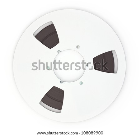 Open Reel Tape Quarter Inch Tape on white background