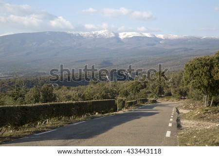 Open Road near Sualt Canyon, Provence, France, Europe Stok fotoğraf ©