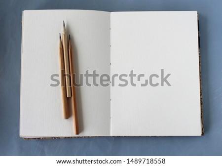 Open sketchbook art space background