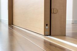 Open sliding doors and door rails