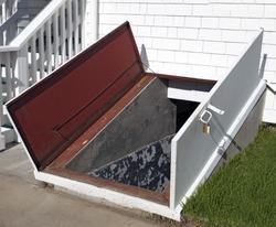 Open storm cellar doors.