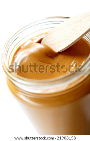 Open the peanuts butter jar. Peanut butter is excellent addition for sandwiches and desserts.