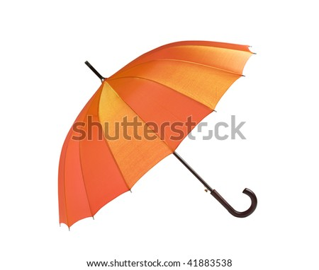 open umbrella isolated on a white backgrounds