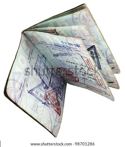 open worn  US passport