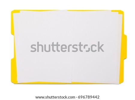Open Yellow Folder Isolated on White Background. #696789442