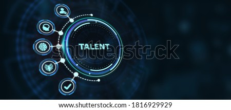 Open your talent and potential. Talented human resources - company success 3d illustration Stock photo ©