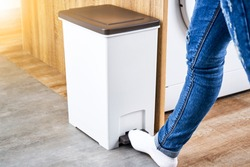 Open your trash can with your foot on foot