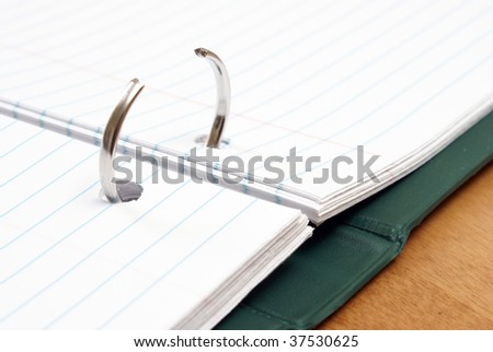 Opened Binder - stock photo