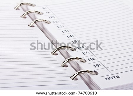opened blank notebook