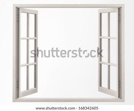 Shutterstock opened blank window frame