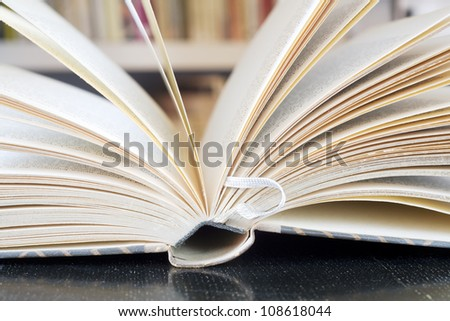 opened book close up