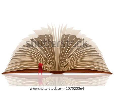 Opened book. Raster version, vector file id: 106486949