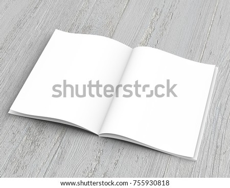 opened book template 3d rendering ez canvas