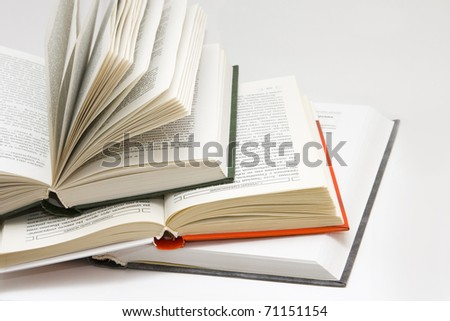 opened books