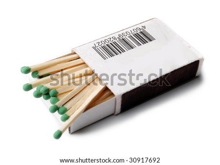 opened boxes of matches - stock photo