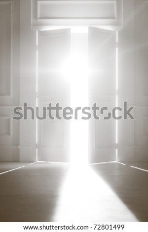 Opened Door With Bright Light